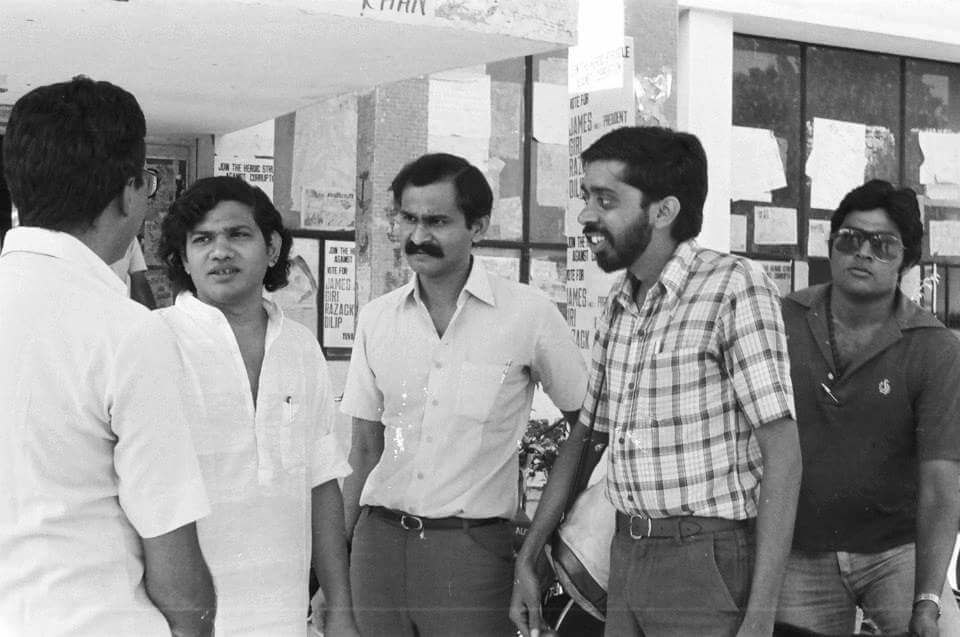 An old photograph of CPI(M) General Secretary Sitaram Yechury when he was studying at JNU during emergency days
